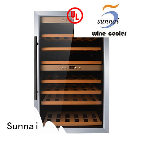 high quality wine bottle cooler black product for home