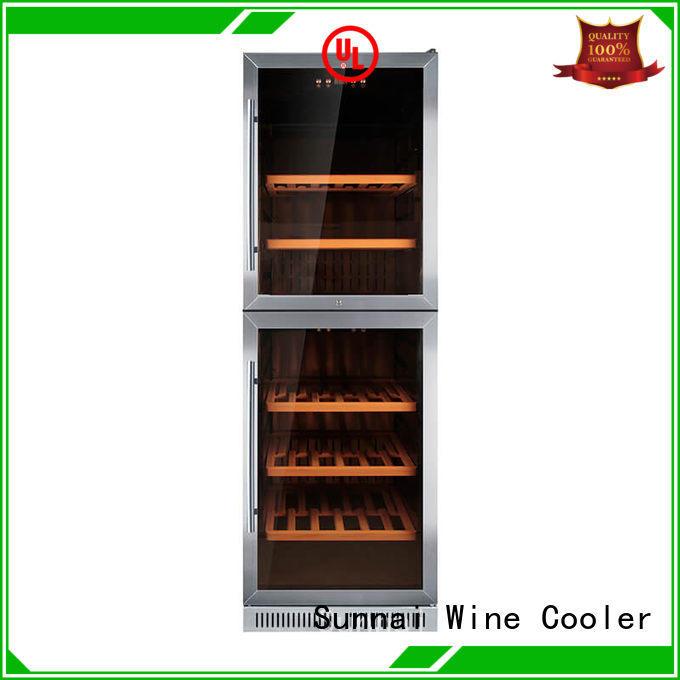 wine under counter dual zone wine fridge compressor for home Sunnai