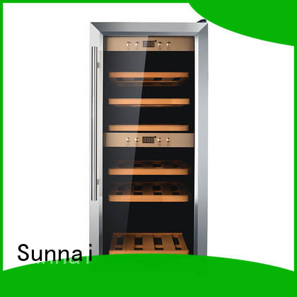 Sunnai silver freestanding wine fridge refrigerator for shop