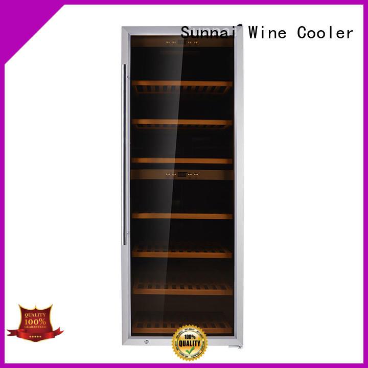 black wine cooler fridge bottles series for work station