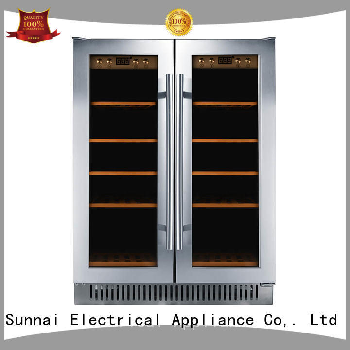 professional under counter dual zone wine fridge cooler wholesale for home