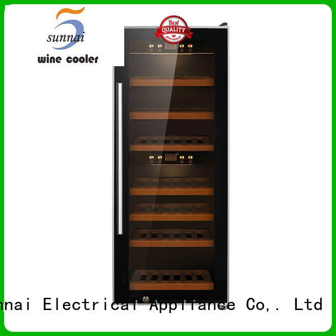 Sunnai cellar free standing wine refrigerator supplier for shop
