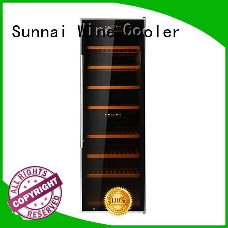 black free standing wine refrigerator compressor supplier for work station
