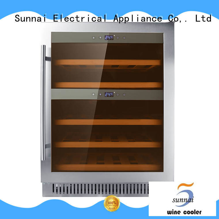 Sunnai panel dual zone undercounter wine cooler series for indoor