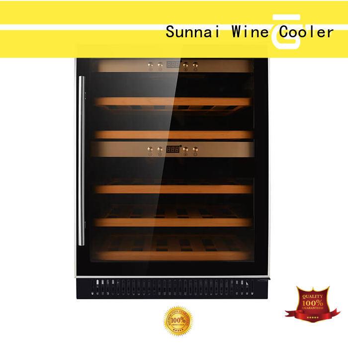 Sunnai durable under counter dual zone wine fridge wholesale for home