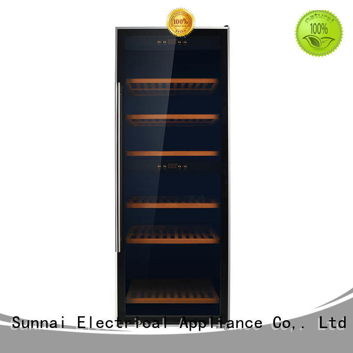 safety wine cooler refrigerator silver series for home