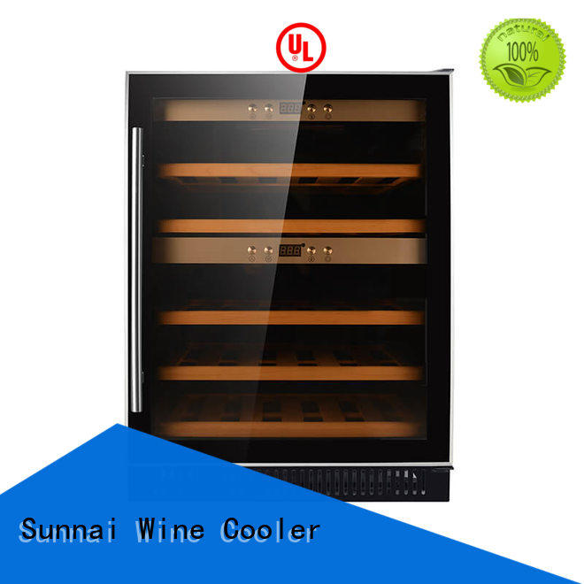 safety single zone wine fridge steel series for home