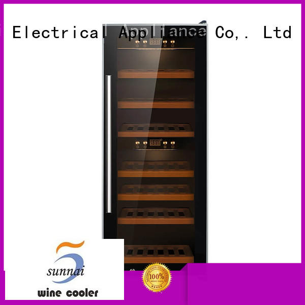 safety wine cooler fridge silver product for work station