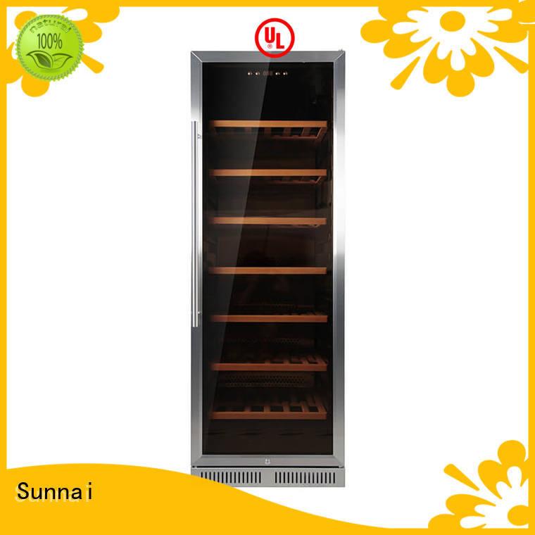 Sunnai dual under counter dual zone wine fridge wholesale for indoor