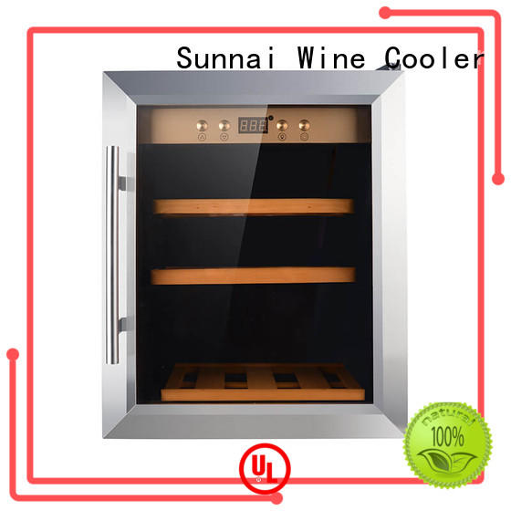 black wine cooler refrigerator dual product for home
