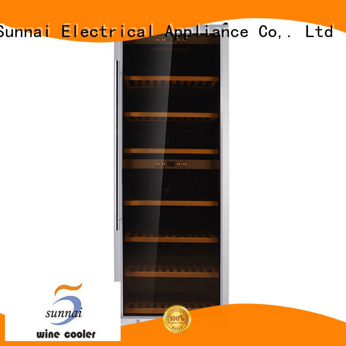 black dual zone wine refrigerator chiller wholesale for work station