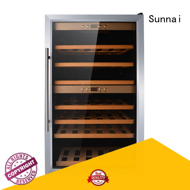 Sunnai door free standing wine refrigerator manufacturer for shop