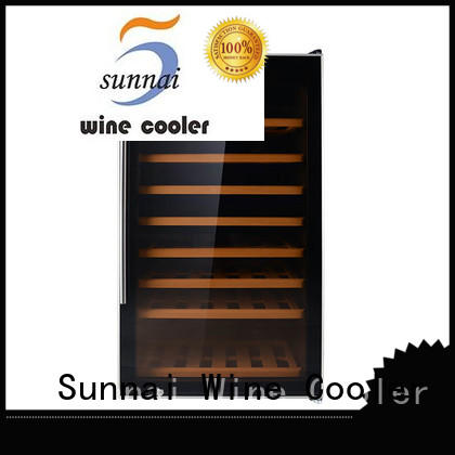 durable dual zone freestanding wine cooler stainless refrigerator for shop