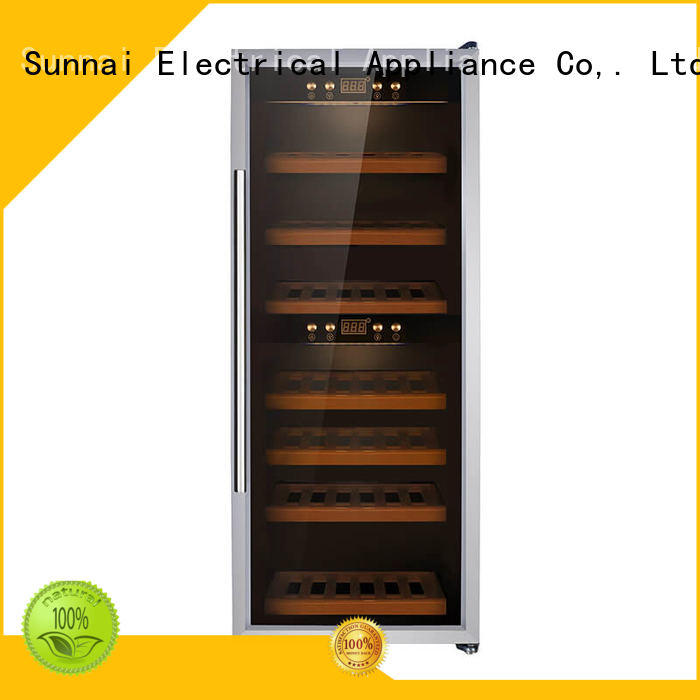 Sunnai single free standing wine refrigerator supplier for indoor