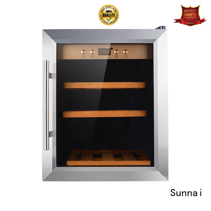 Sunnai durable dual zone wine cooler series for indoor