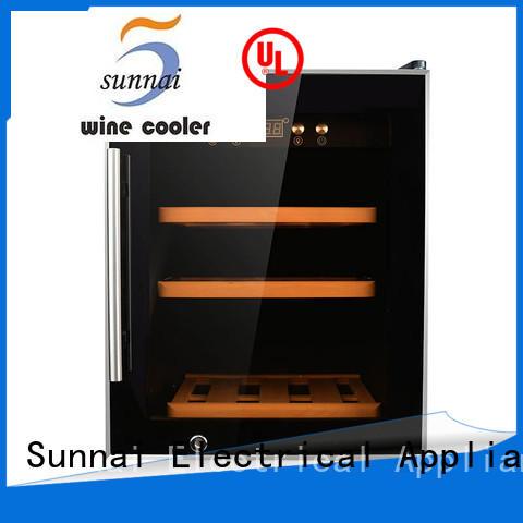Sunnai black freestanding wine fridge wholesale for shop