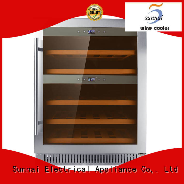 Sunnai zone dual zone undercounter wine cooler compressor for indoor