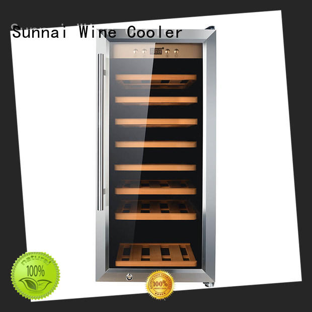 Sunnai high quality dual zone wine cooler product for work station