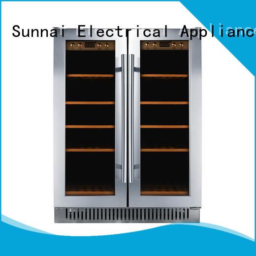 Sunnai door under counter wine fridge manufacturer for shop