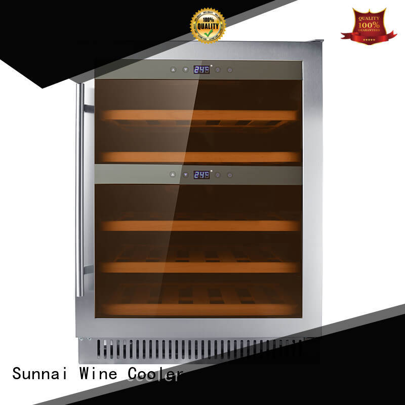 Sunnai high quality double doors wine cooler manufacturer for home