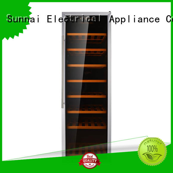 Sunnai silver wine cooler fridge product for indoor