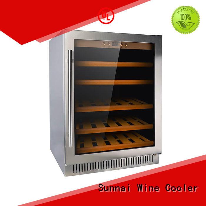 Sunnai bottles under counter wine fridge compressor for shop