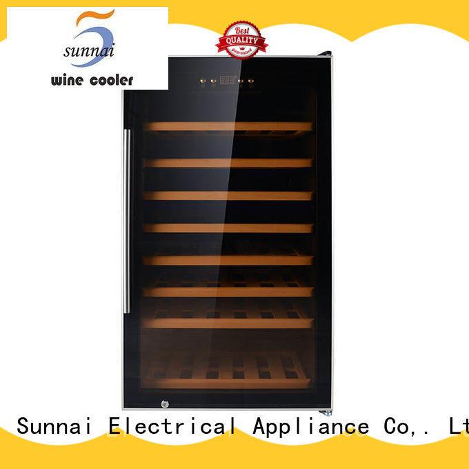Sunnai dual free standing wine refrigerator series for indoor