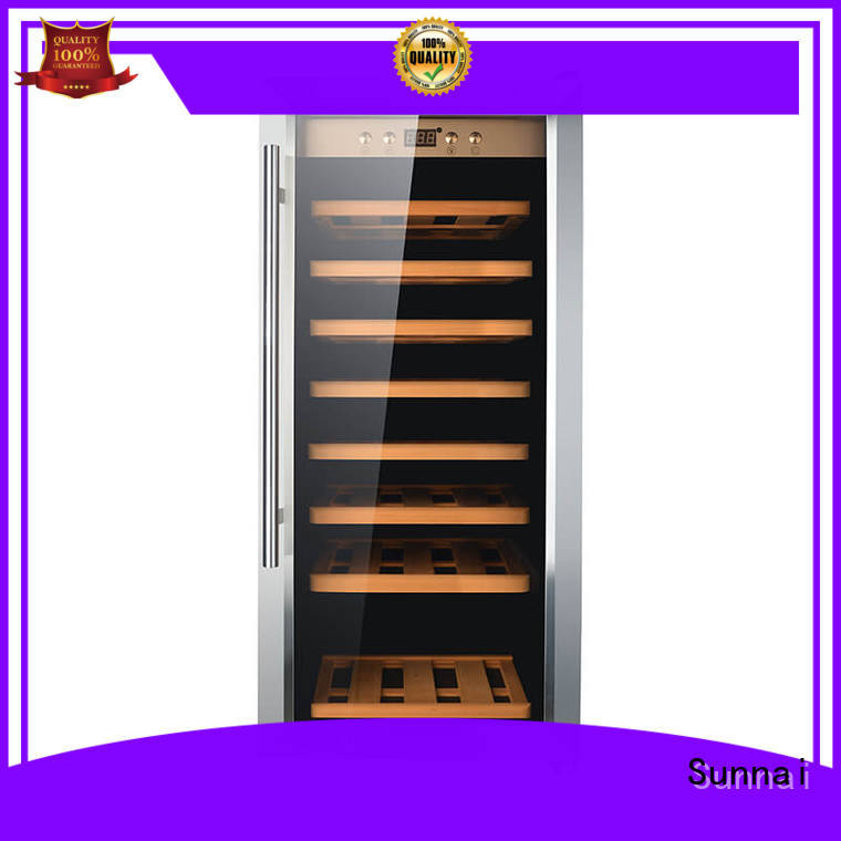durable single zone wine cooler wood supplier for shop