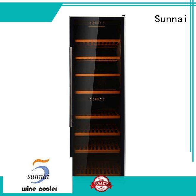 Sunnai door wine cooler refrigerator manufacturer for shop