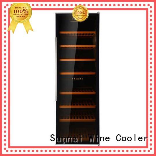 durable compressor wine cooler dual zone fridge supplier for work station
