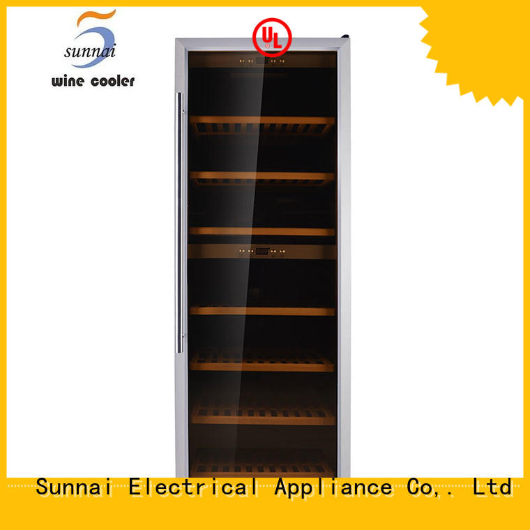 online dual zone freestanding wine cooler wine product for shop