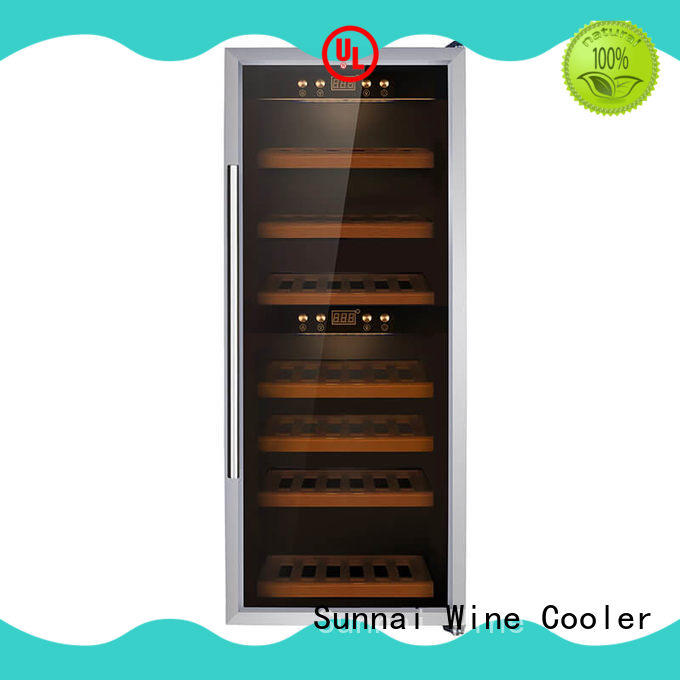 Sunnai high quality stainless steel door wine cooler wholesale for shop