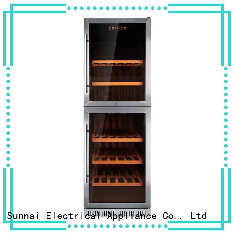 Sunnai single under counter wine fridge compressor for indoor