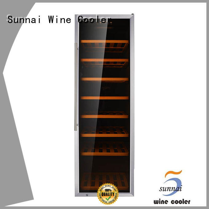 Sunnai wood freestanding wine cooler wholesale for work station