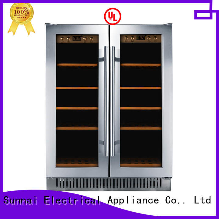 high quality under counter dual zone wine fridge panel cooler for indoor