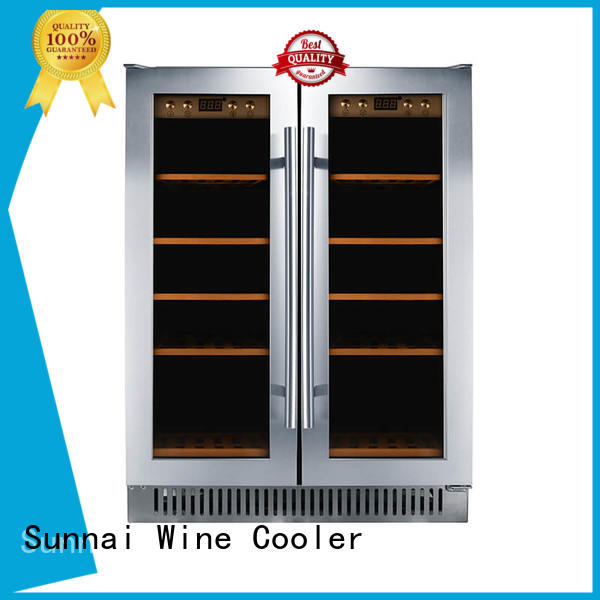 durable dual zone undercounter wine cooler fridge wholesale for shop