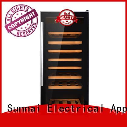 durable free standing wine refrigerator compressor supplier for work station