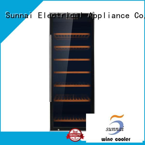 black single zone wine fridge steel product for shop