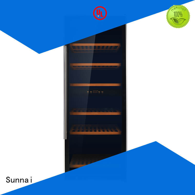 Sunnai safety stainless steel door wine cooler refrigerator for indoor