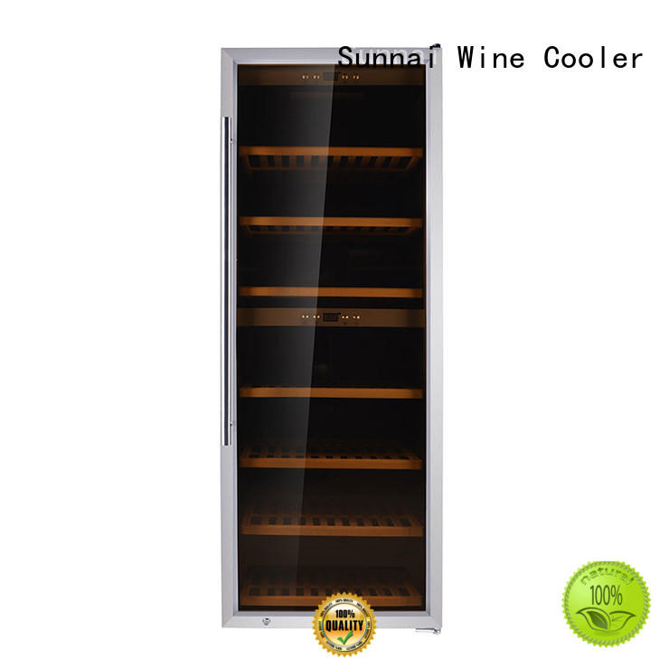 Sunnai safety single zone wine fridge supplier for shop