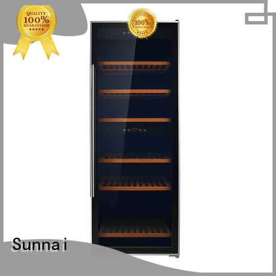 black wine storage cooler stainless supplier for home