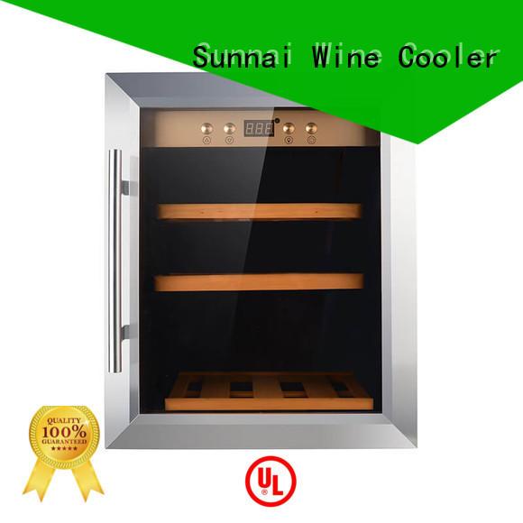 cooler refrigerator wine refrigerator dual zone freestanding Sunnai manufacture