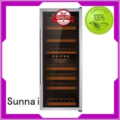 Sunnai door wine bottle fridge manufacturer for shop