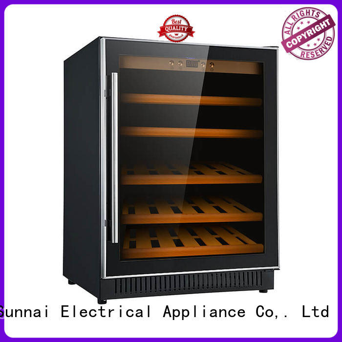Sunnai double under counter dual zone wine fridge cooler for shop