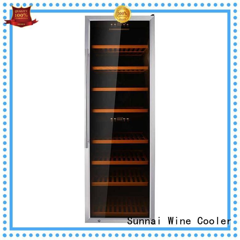 Sunnai single single zone wine refrigerator series for indoor