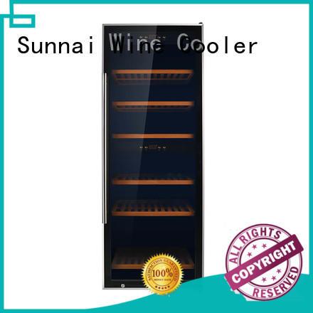 Sunnai size wine cooler fridge manufacturer for indoor
