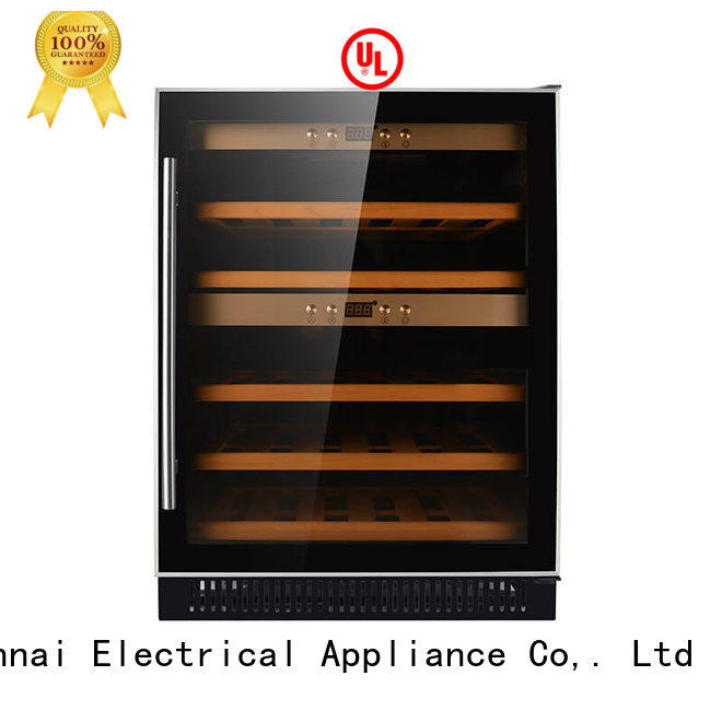 Sunnai safety under counter wine fridge cooler for shop