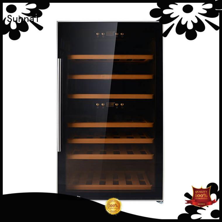 Sunnai double wine cooler fridge supplier for shop