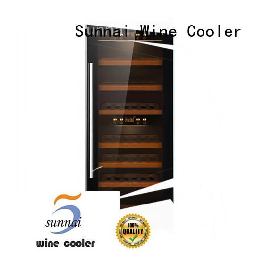 Sunnai compressor wine cooler refrigerator manufacturer for indoor