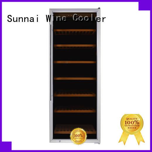 wood compressor OEM freestanding wine cooler Sunnai